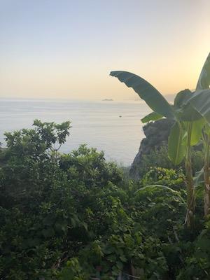 Vista sul mare dal balcone dell'Hotel Villa Bellavista di Praiano
