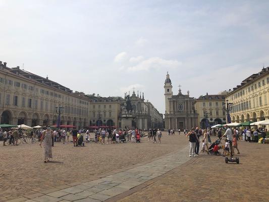 Veduta di Piazza San Carlo a Torino