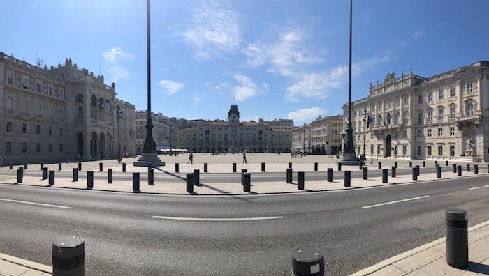 Veduta di Piazza Unità d'Italia a Trieste