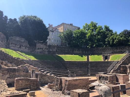 Veduta del Teatro Romano di Trieste